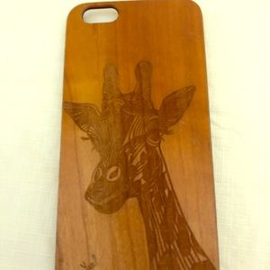 Accessories - Giraffe 🦒Wood Carved Phone Case! For iPhone 7Plus